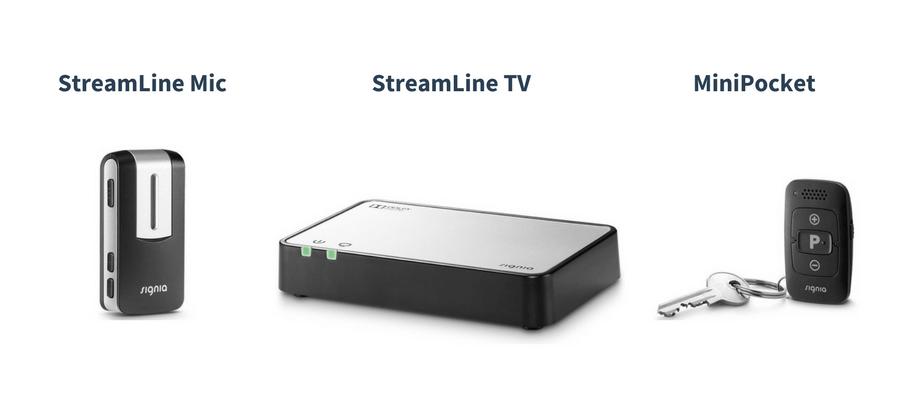 SIGNIA Pure® 13 Nx Hearing Aids 3px + Streamline TV Transmitter