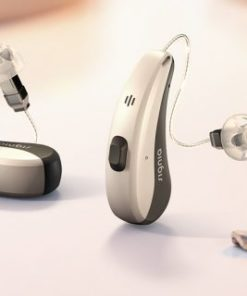 SIGNIA Pure™ Charge&Go Nx Hearing Aids on table