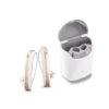 Signia Styletto X Pair With Charger - Snow White / Rose Gold
